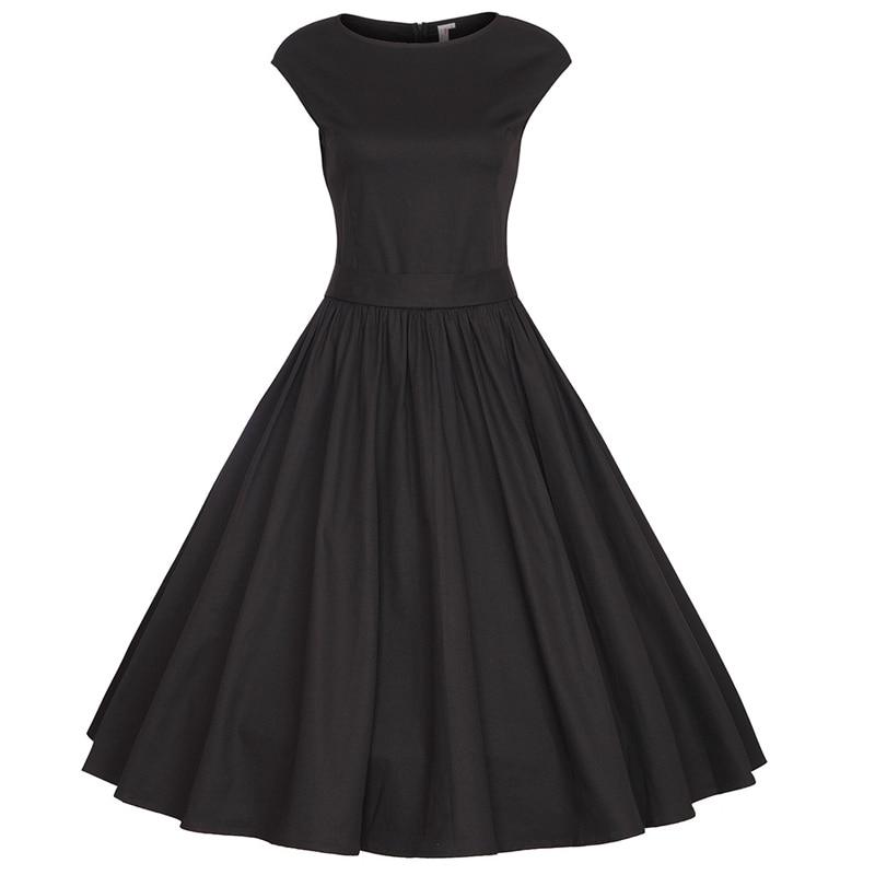 Womens Cap Sleeves 1950s 60s Vintage Dress Audrey Hepburn