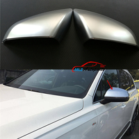 Car Reaview Mirror Cover Chrome Rear View Mirror Trim Frame 2PCS ABS Electroplating For Audi Q7