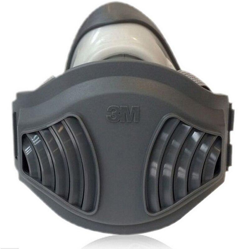3M 1211+10pc1701Filter cotton Half Face Gas Mask Dust Anti industrial conatruction Dust pollen Haze poison Family Professional