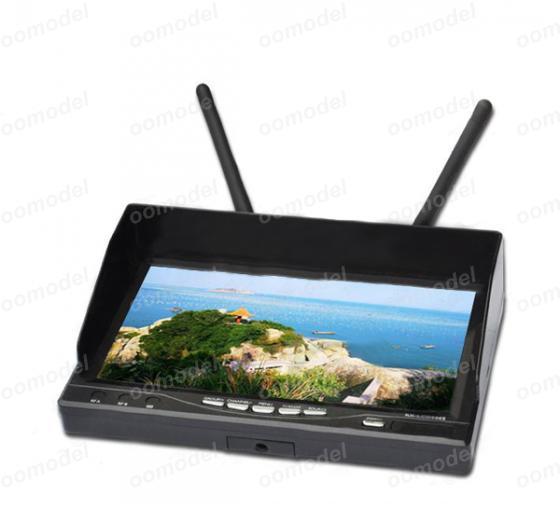 Boarnaque RX-LCD5802 5.8 GHz LCD diversité récepteur 7 pouces moniteur livraison gratuite avec suivi