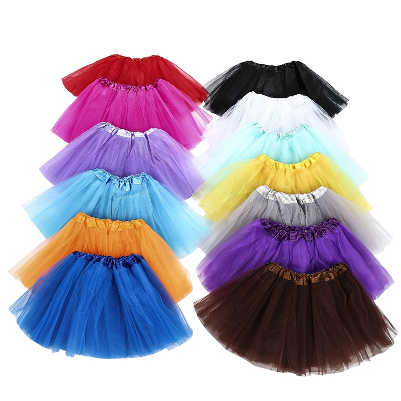 Baby Girl Tutu Skirts Kids Dance Skirt For Girls 3 Layers Tulle Tutu Girls Skirt Ball Gown Pettiskirts Birthday Party Clothes