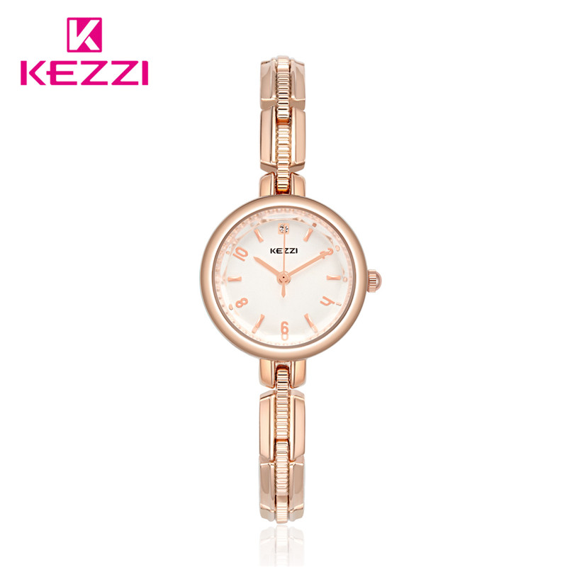 Kezzi Women's Watches Top Brand Free shipping Fashion Stainless Steel Wrist Watch for Women Gold Silver Watch kw-1709 ysdx 398 fashion stainless steel self stirring mug black silver 2 x aaa