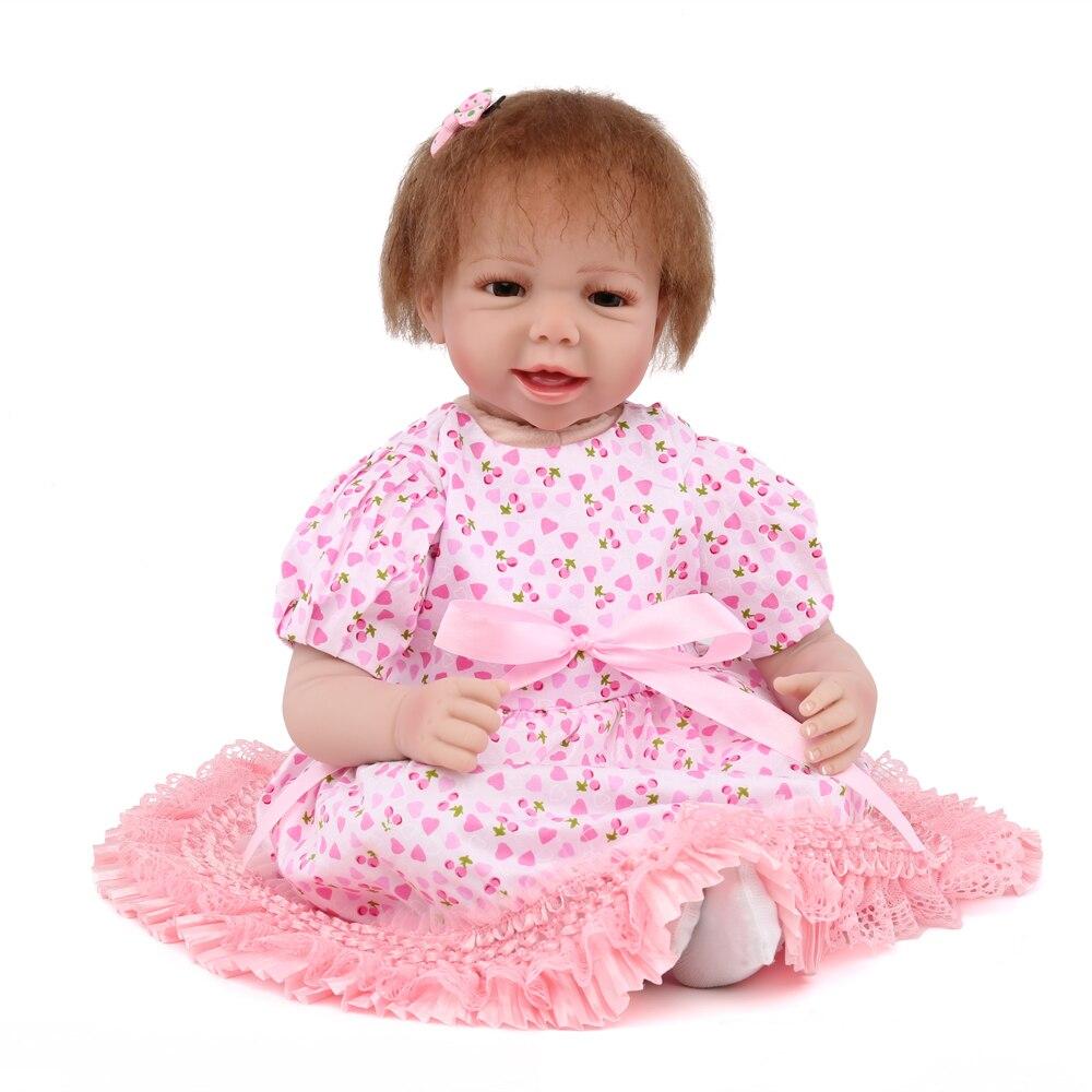KAYDORA Silicone Reborn Baby Dolls Girls 55cm Diy Toy Lifelike Newborn Silicone Vinyl Reborn Gift For Dolls Girls