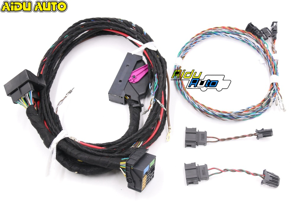 USE FOR VW PQ Tiguan Plug play RNS510 Dynaudio System acoustics Wire harness Cable