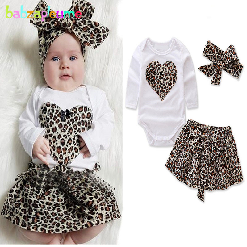 3PCS/3-24Months/Summer Kids Clothes For Baby Wear Girls Rompers+Shorts+Headband 1st Birthday Outfits Newborn Clothing Set BC1035