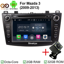 Sinairyu Octa Core Android 6.0 Car DVD Multimedia Video Player Head Unit Fit for MAZDA 3 2009 2010 2011 2012 GPS 4G Radio Stereo