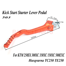 все цены на Kick Start Starter Lever Pedal ARM For  250SX 300XC 350XC 150XC 500EXC Husqvarna TC250 TE250 Motocross Dirt Pit Bike forged онлайн
