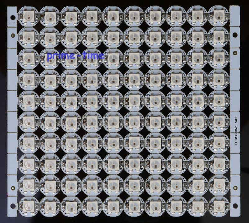 10-1000 unids / lote! 5V WS2812B Incorporado WS2811 IC LED Chip 5050 SMD direccionable individualmente con mini placa PCB (10 mm * 3 mm) Disipador de calor