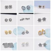 FirstQueen 100 Sterling Silver 925 Stud Earrings For Women Jewelry Christmas Gift For 2018 New Year