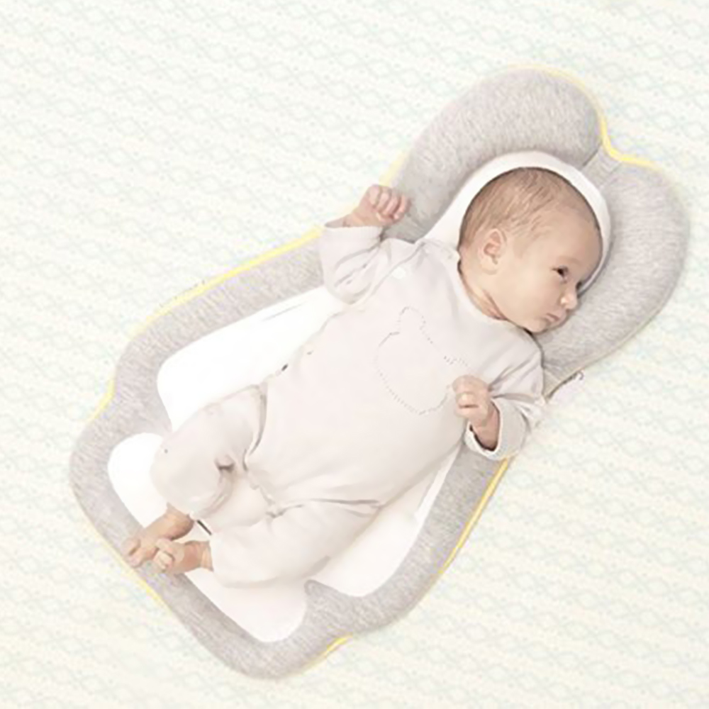 Newborn Infant Anti-rollover Pillow Portable Baby Bed Stereotypes Pillow Baby Head Protection Pad Travel Folding Baby Bed