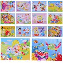 4 шт. ручной работы 3D головоломка DIY Пена Мозаика стикер s Art EVA мультфильм Кристалл 3D Алмазная наклейка игрушки творческие развивающие игрушки