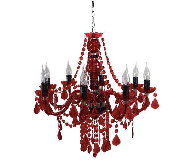 Free Shipping Red Pendant Lamp, 5/8 Heads Lights, Vintage ...
