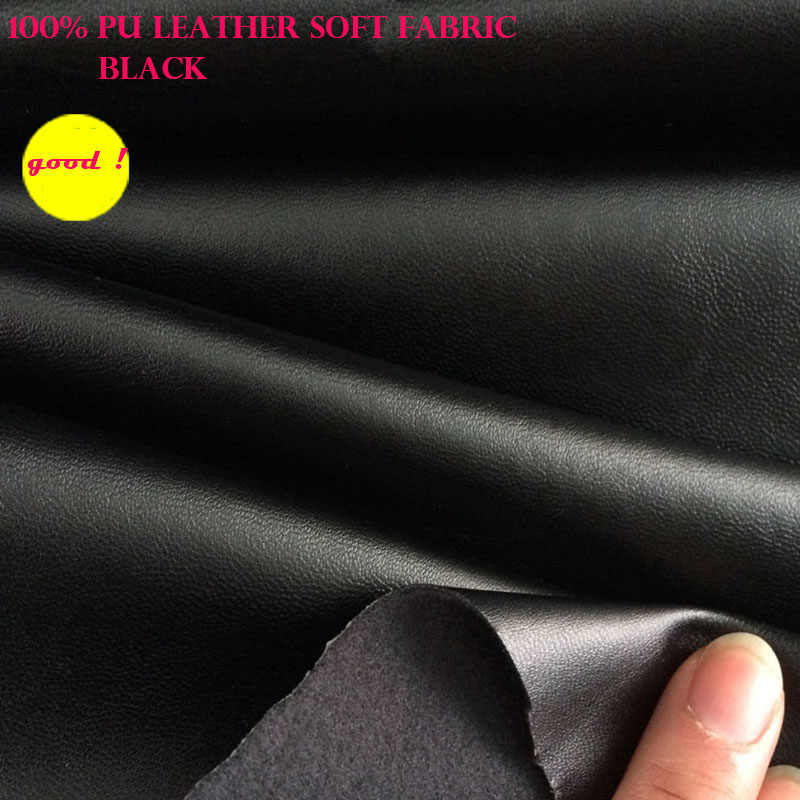 Good 69*50cm Synthetic Leather Black Faux Leather Fabric PU Leather Clothing Fabric Synthetic Leather Fabric Sewing Diy Pants