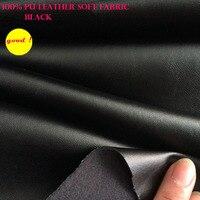 Хорошая 69*50 см Синтетическая кожа черная искусственная кожа ткань pu кожа Одежда Ткань искусственная кожа Шитье на брюки