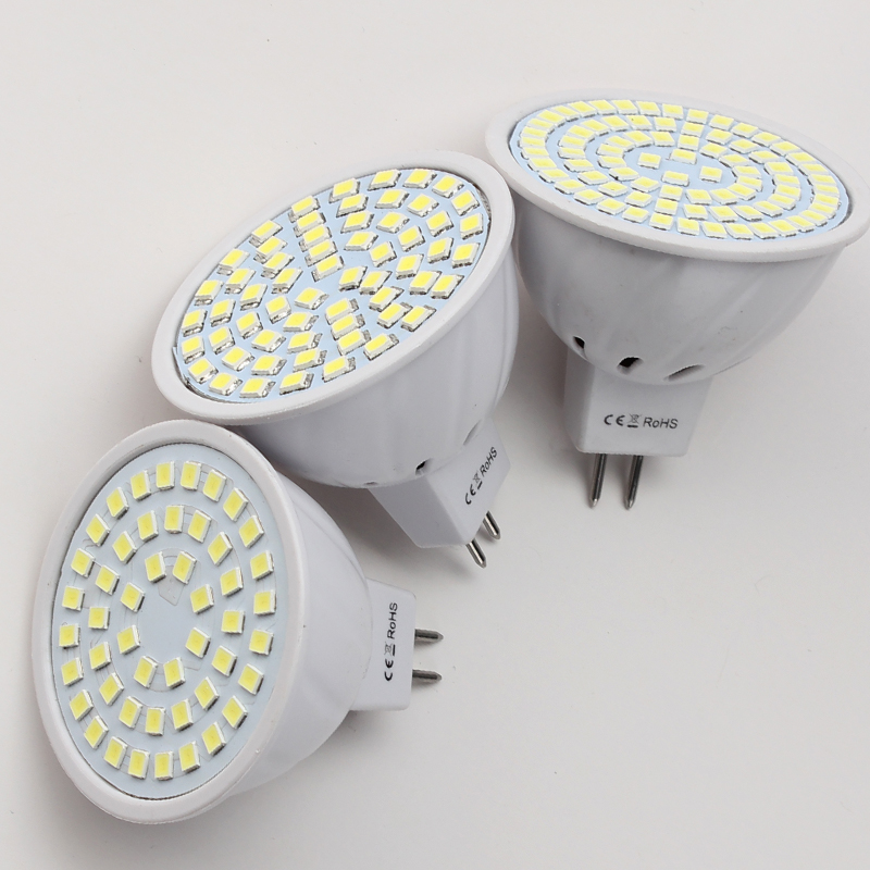 LED Bulb Lamp GU10 E14 E27 MR16 Bombillas Lampada Spotlight 48leds 60leds 80leds SMD 2835 for Home Chandelier Corn Lighting Bulb