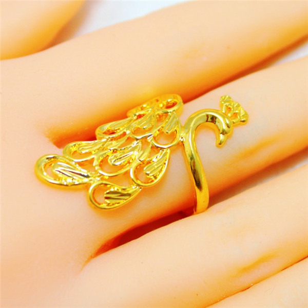 Beautiful 24k Gold Plate Hollow Pea 1 Quality Hongkong Handmade Adjule Ring For Women Weeding Jewelry In Rings From
