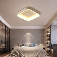 Triangle ot Square Modern Led Chandelier For Living Room Bedroom Study Room White or Grey Ceiling Chandelier Fixtures