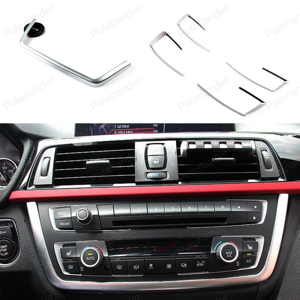 car styling for B/MW 3 4 Series F30 F31 F32 F34 F36 316 318 320 420 2013-2015 5pcs Dashboard Center Console Cover Trim kits car styling carpet photophobism dashboard protection pad mat for bmw 3 series f30 f31 2012 2013 2014 2015 2016 lhd car styling