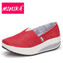 MINIKA Superstar Women Casual Shoes Thick Bottom Shallow Mouth Women Flat Shoes Solid Colors Slip On Women Loafers Shoes