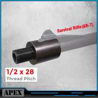 Barrel End Threaded Adapter 1/2-28 for Survival Rifle(AR-7) 1/2