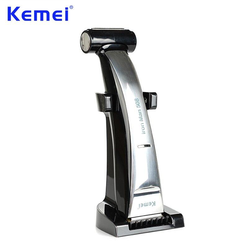 KEMEI 2 en 1 barbe tondeuse à cheveux étanche Rechargeable rasoir rasoir chauve machine de découpe pour hommes cheveux outils de coupe