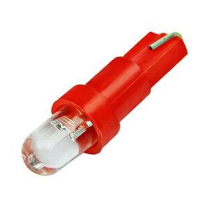 Image 3 - 10 個 T5 led 車のインテリアのダッシュボードゲージ楽器車の自動車サイドウェッジライトランプ電球 dc 12 v 白赤青黄緑