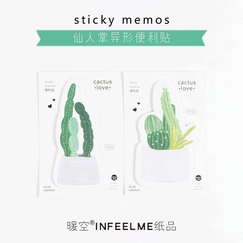 1 PCS ใหม่น่ารัก Cactus Love Memo Pad Sticky Notes Memo โน้ตบุ๊คเครื่องเขียนหมายเหตุสติกเกอร์กระดาษอุปกรณ์โรงเรียน