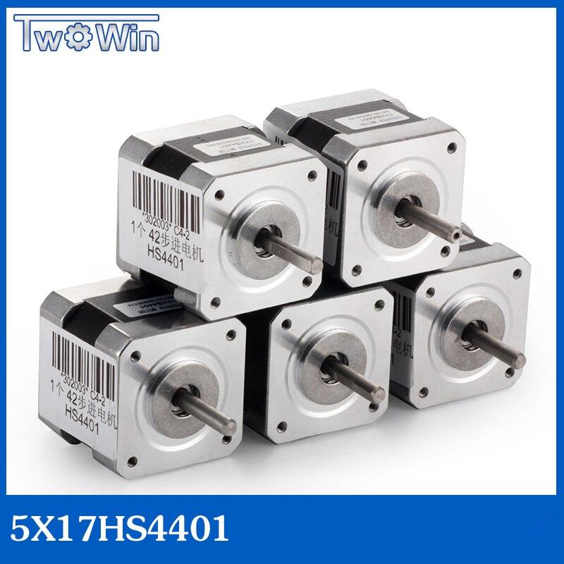 5pcs 4 lead Nema17 Stepper Motor 42BYGH 1 7A NEMA17stepper motor for 3D printer 17HS4401