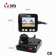 wholesale motorcycle parts C6 hd dual lens camera motorcycle DVR with R1S lens and GPS tracker