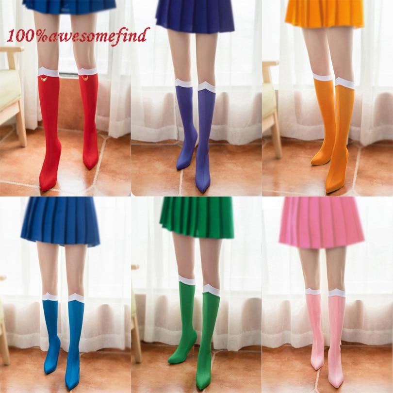 Sailor Moon Tsukino Usagi Cosplay Socks Costume Knee High Boots Cover Shoes Case