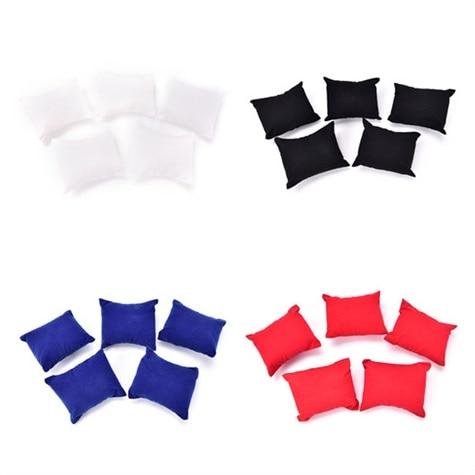 5pcs Jewelry Display Holder Pillow Bracelet Bangle Watch Display Holder Pillow Cushion 4 Colors Jewelry Holder Pillows