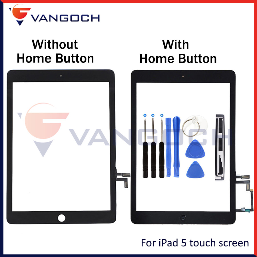 Touch screen for iPad Air 1 white/black Digitizer Front Display Glass Assembly for ipad 5 with home button free shipping white black 1 pcs for alcatel one touch idol x 6043 ot6043 lcd display with touch screen digitizer assembly free shipping