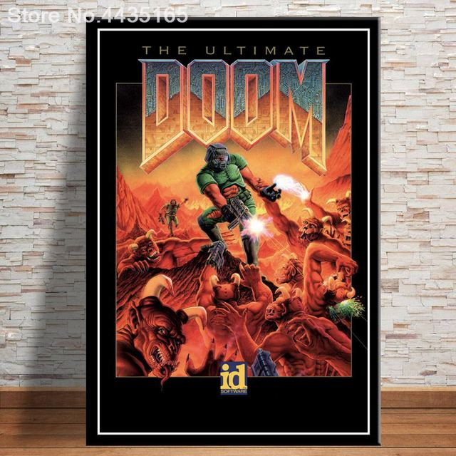 The Ultimate Doom Game Poster Halo Video Games Wall Art Picture Canvas Painting for Living Room Home Decor Posters and Prints 1