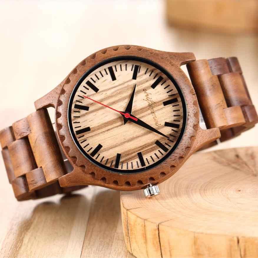 Reloj de madera para hombres, Mujeres, Movimiento de cuarzo, banda de madera, reloj para amantes, relojes para hombre, moda para hombre