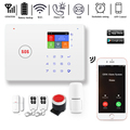 DAYTECH GSM Wi-Fi сигнализация с автоматическим определением движения пожарный дым PIR сирена датчик домашняя охранная беспроводная GSM Сигнализаци...