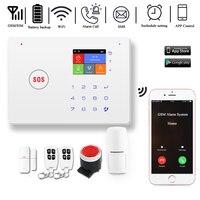 DAYTECH GSM WiFi Alarm System AutoDial Motion Detection Fire Smoke PIR Siren Sensor Home Burglar Wireless