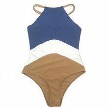 Womail Women's Color Stitching One-piece Swimsuit Swimsuit Beachwear Bikini bathing suit women high waist sexy bikini set 30