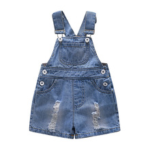 6 24 M Kids Baby Boy Overalls Denim Jeans Casual Summer Toddler Clothes Baby Suspender Shorts