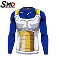 New 2016 Dragon ball z 3d t-shirt men  top quick dry tees super saiyan son goku costume long sleeves anime camiseta vegeta