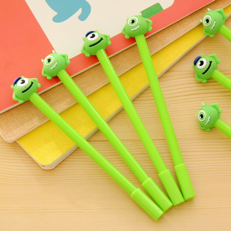1 pcs 0.38mm Funny Monsters University Gel Pen Black Pen Candy Color Cartoon Sulley & Popeyes Pens for Kid Gift Stationery