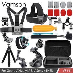 Vamson dla Go akcesoria pro zestaw Mini statyw Floaty Bobber monopod do gopro Hero 7 6 5 4 dla Xiaomi dla Yi dla SJCAM VS141