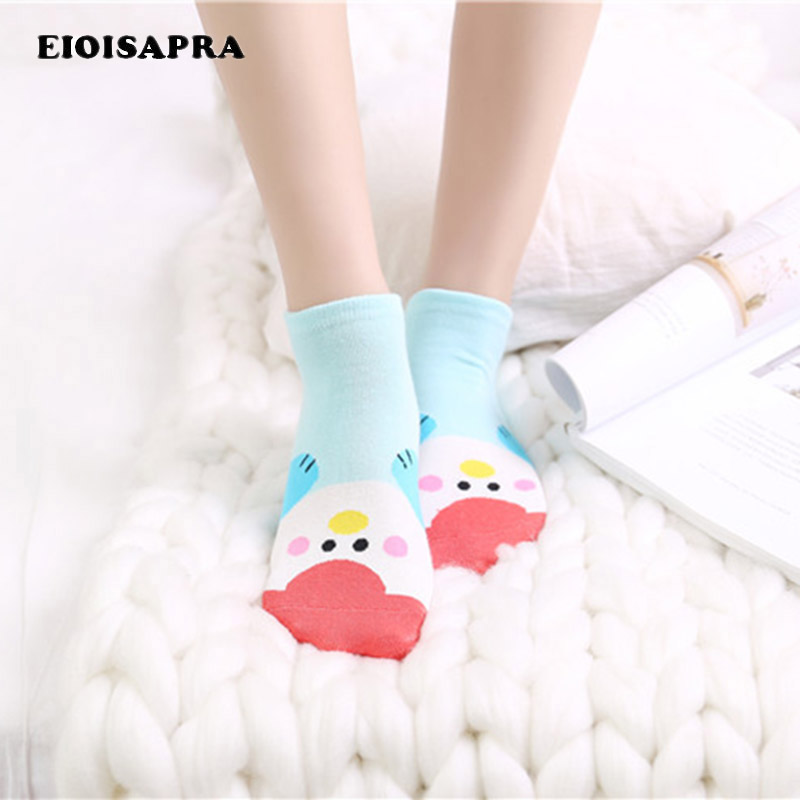 [EIOISAPRA]Spring/Summer Stealth Lovely Ankel Cartoon Cotton Socks Women Ears harajuk Ca ...