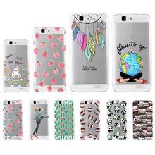 Fashion Printing Soft Cover Case For Huawei Ascend G7 C199 C