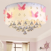 Crystal Ceiling Light Butterfly Individuality Warmer Bedroom Light Wedding Room Light LED Acrylic Shade Powder / White LO7217