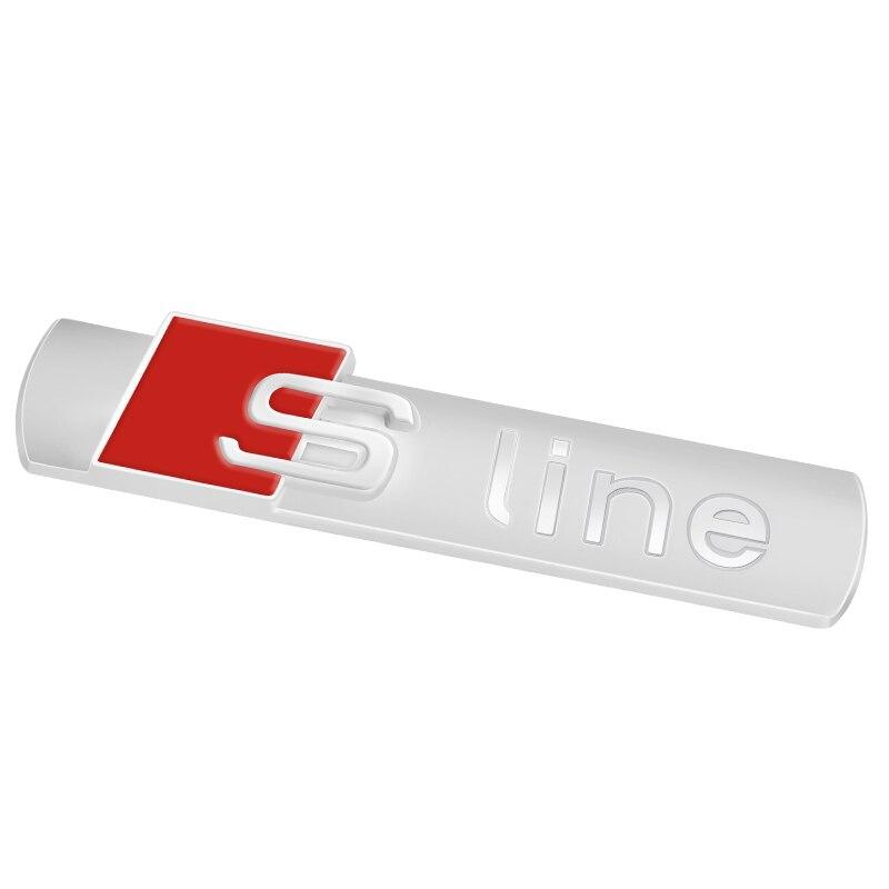 3D S Line Sline Car Front Grille Emblem Badge Stickers Accessories For Audi A1 A3 A4 B6 B8 B5 B7 A5 A6 C5 C6 A7 TT Car Styling