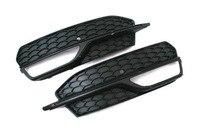 S Linie Honeycomb Stil Schwarz Nebel Licht Kühlergrill für AUDI A3 8V-in Rennauto-Kühlergrill aus Kraftfahrzeuge und Motorräder bei