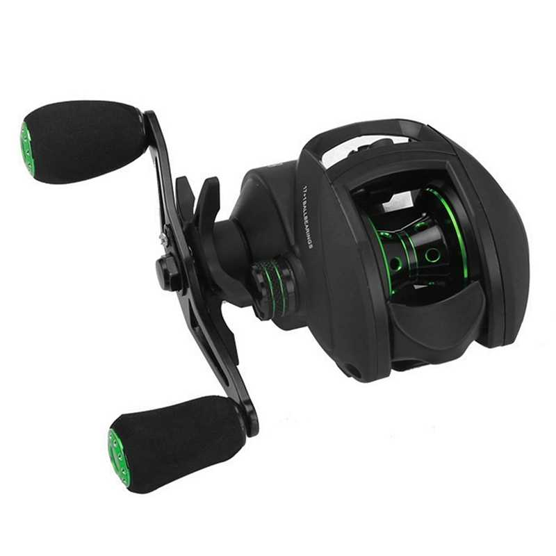 17+1 Bb Bait Casting Reel With Magnetic Brake 8.1:1 Gear Ratio Freshwater Saltwater Big Fish Carp Fishing Reel Pesca