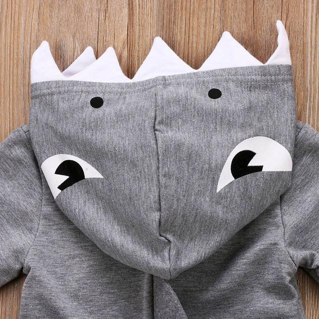 Casual Boy's Shark Style Hoodie