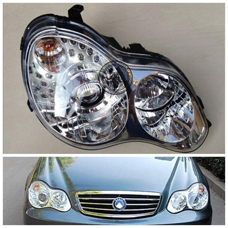 Geely CK,CK2,Car front headlight assembly geely sc7 sl car front headlight head light transparent cover