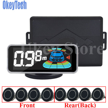 OkeyTech Parktronic 8 Sensor Car Parking Sensor Auto Reversing Radar  Parking Car Detector Parking